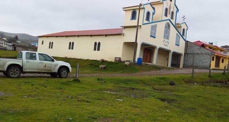 técnicos del Ministerio de Deporte visitan al GAD Parroquial de Honorato Vásquez y su territorio.